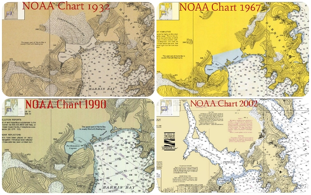 NOAA Chart Northwestern 1932-2002
