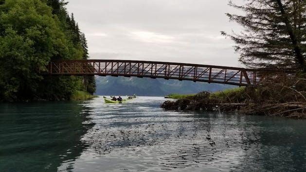 Guided Kayaking Trip under Tonsina Bridge