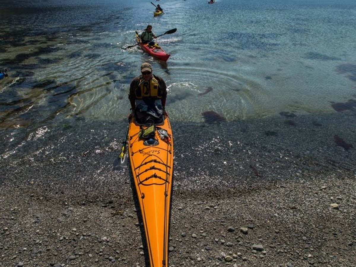 Kayak in Northwestern Fjord Landing Beach