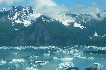 Ice glaciers in Seward Alaska