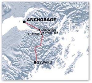 Train map from anchorage to seward