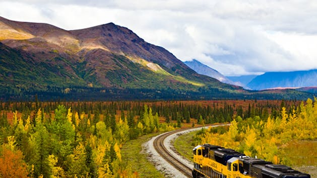 The Alaska railroad Anchorage to Talkeetna