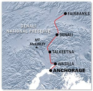 Denali Star Anchorage to Alaska