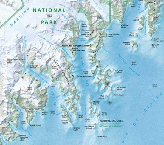 Resurrection Bay Alaska Map.Local Seward Maps Miller S Landing In Seward Alaska