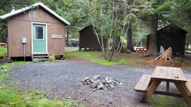 Tree Camping Cabins in Seward