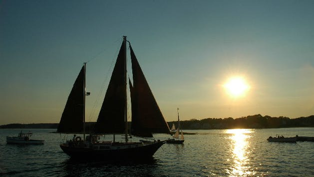 The Pineapple Ketch takes a sunset cruise.