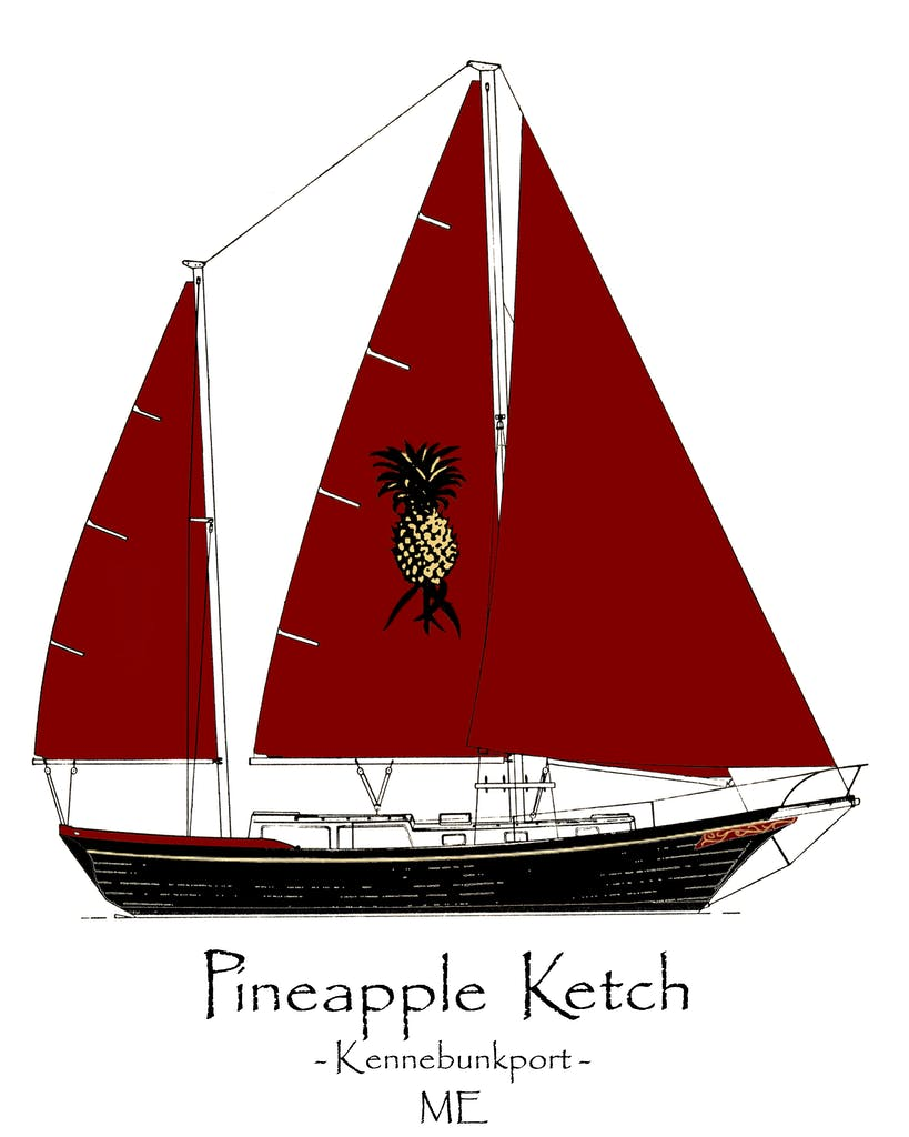 The Pineapple Ketch | The Best Sailing Trips in Kennebunkport