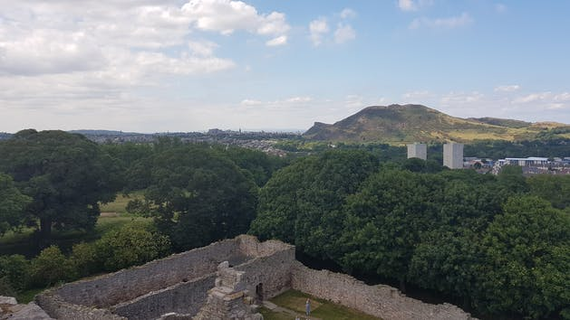 Edinburgh volcano and Castle