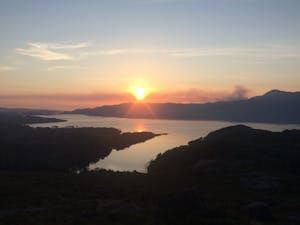 A sunset of over Torridon