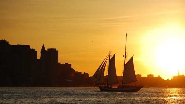 Boston Harbor sunset sail