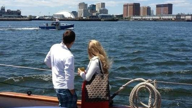 Sunday Brunch sail overlooking Boston Harbor