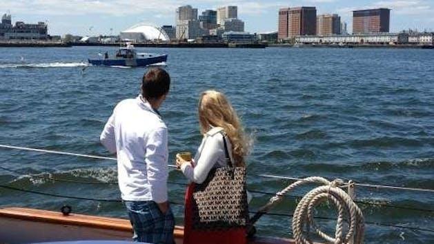Sunday Brunch sail overlooking Boston Harbor