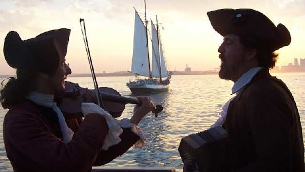 a duet of tall ship music from an era past
