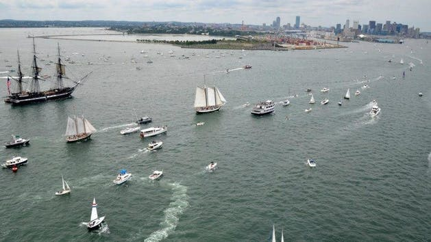 Annual USS Constitution Turnaround Sail - Liberty Clipper Image 1