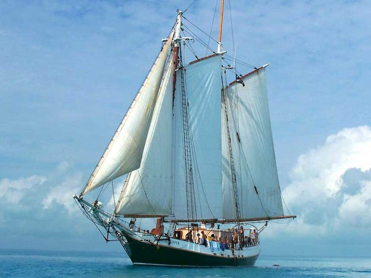 Liberty Fleet Tall Ship on the water
