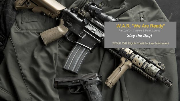 W.A.R. class poster with Rifle and Pistol
