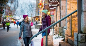 Two women shopping in Whistler