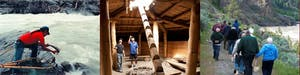 People explore first nations history on a tour