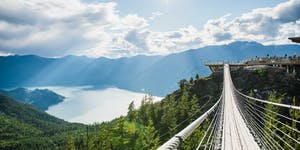 Views from the top of the sea-to-sky gondola, suspension bridge