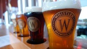 A sampler flight of beers