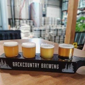 A flight of beer samples