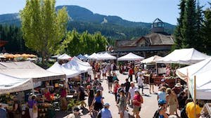 A sunny view of the Whistler's Farmers Market