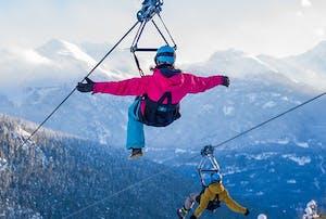 Ziplining in winter