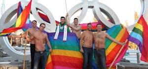LGBTQ Pride flag in Whistler