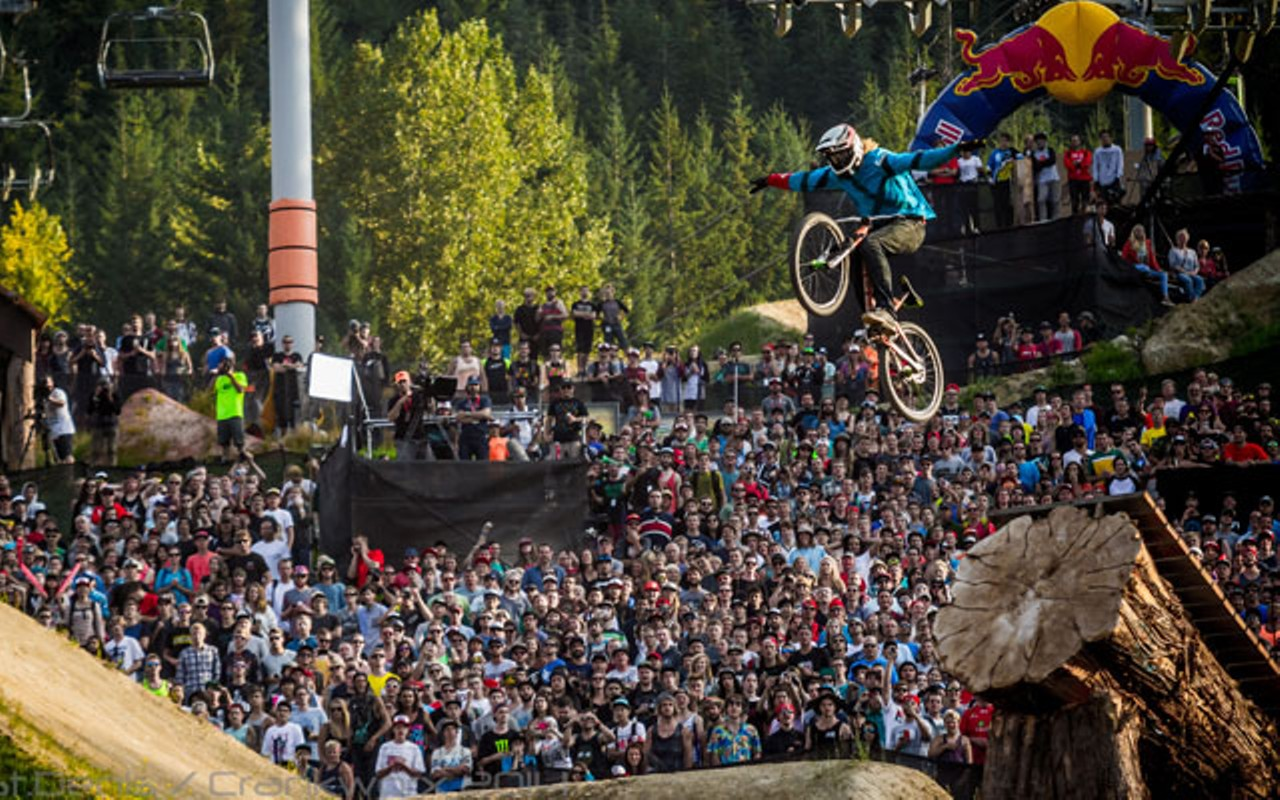 Big air at the crankworx competition