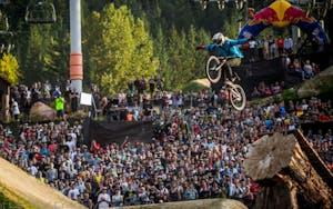 Big air at the crankworx competition