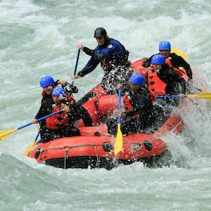 Rafting a river with TAG