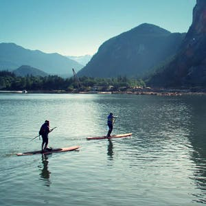 What could be more Whistler, than SUP yoga?