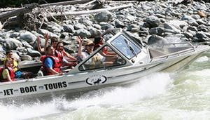 Get wet and wild in Whistler with a jet boat experience.