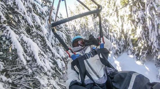 Whistler winter Zipline with Superfly