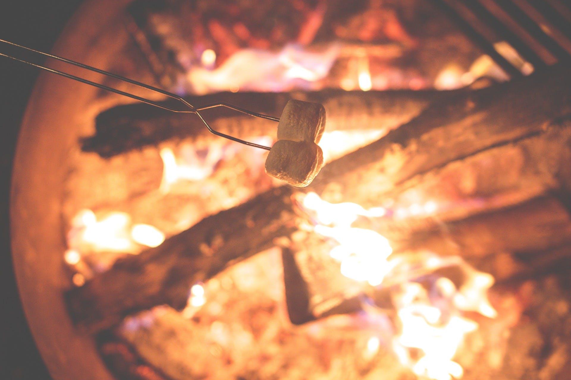 Campfire and smore