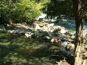 Sloquet hot springs near whistler