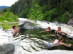 Meager Creek Hot Springs around Whistler
