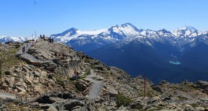 A view from the top of Whistler Blackcomb