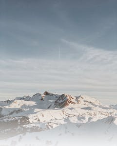 Landscape of Whistler mountains