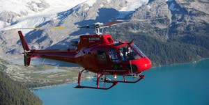 Blackcomb Helicopter from the air