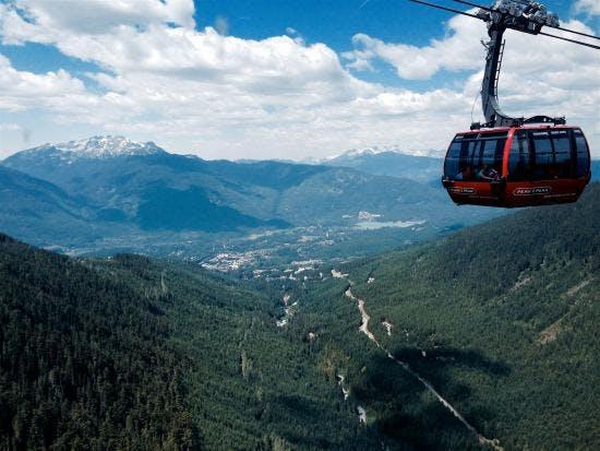 Whistler gondola in Summer