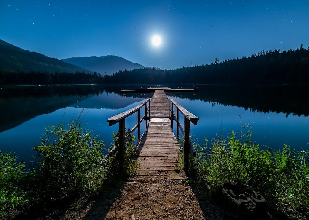 Whistler lake, alone