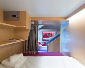 inside the pangea pod hotel Whistler
