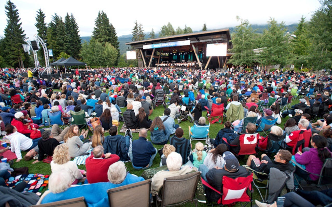 Free concert in Whistler