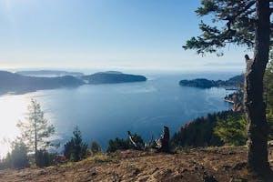 A ridge line on the Sunshine Coast in BC