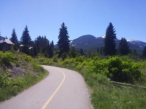 View of the paved Whistler Valley Trail