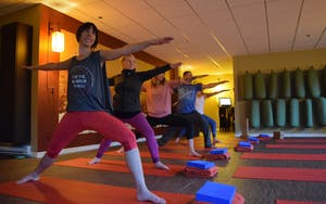A session at yogacara in Whistler