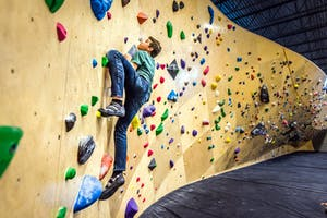 Inside ground Up a climbing gym in Squamish