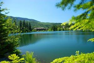 A view across the Nita lake in Whistler