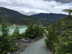 Gravel valley trail in Whistler